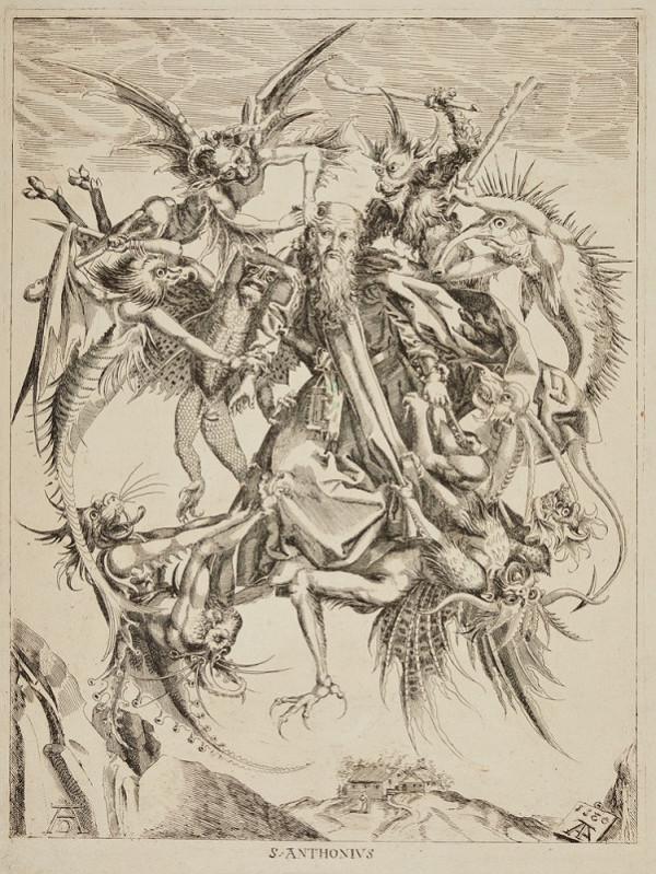 Martin Schongauer – Pokušení svatého Antonína
