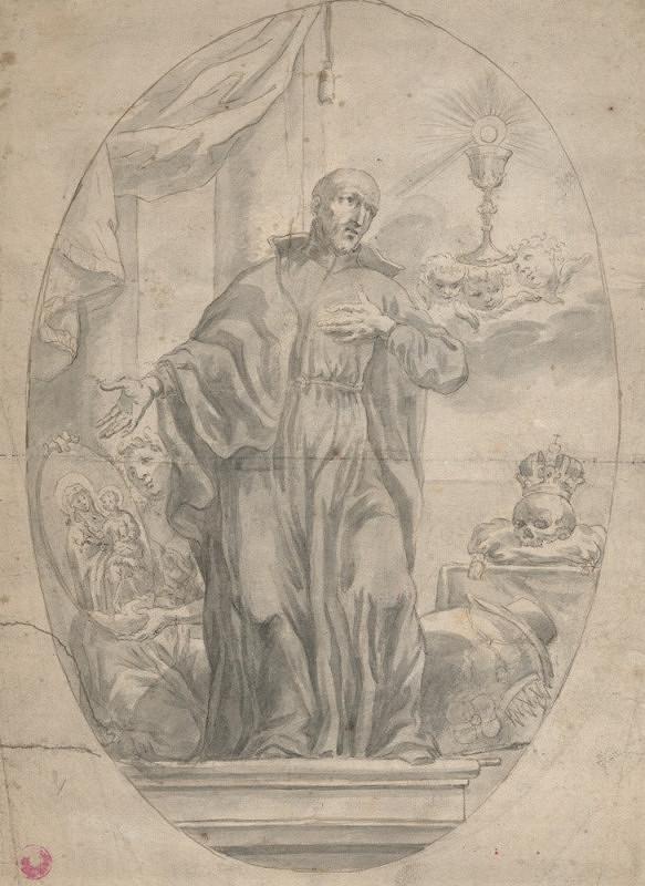 Český kreslíř počátku 18. století – Sv. František Borgia
