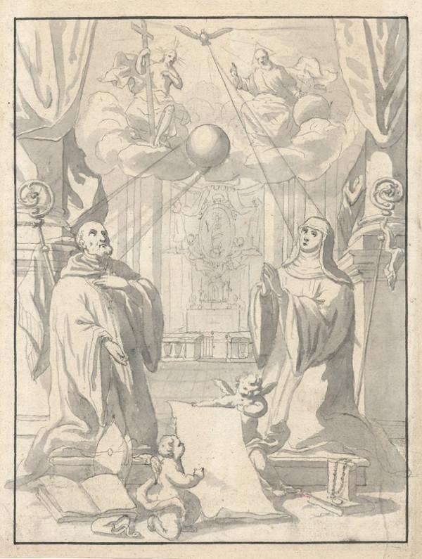 Josef Hager – Klečící sv. Benedikt a sv. Scholastika