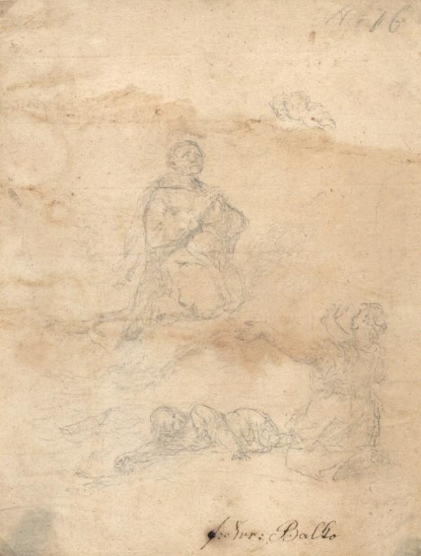 František Karel Palko – Blahoslavený Marinonius nad dítětem a prosebně jej vzývající ženou