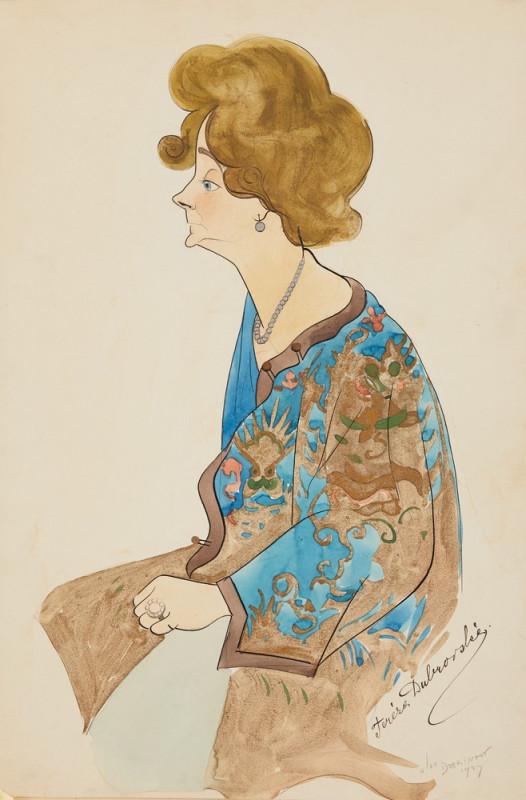 Aleksander Christov Dobrinov – Karikatura Terezy Koseové-Dubrovské, 1927