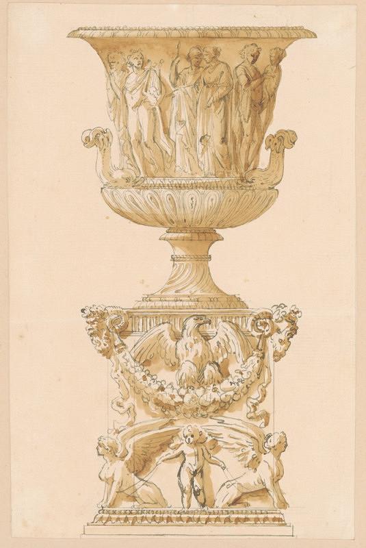 Joseph-Marie Vien – Návrh na dekorativní vázu