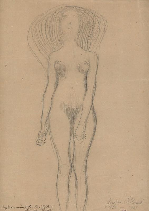Gustav Klimt – Akt stojící dívky