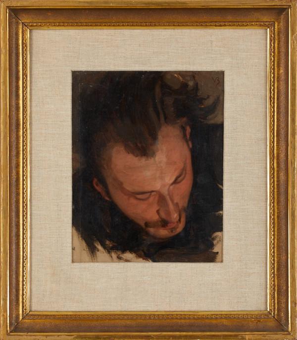 Viktor Barvitius - Portrét Adolfa Kosárka (studie k obrazu Bitva u Kresčaku)