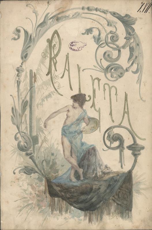 Alfons Mucha – Návrh titulního listu časopisu Paleta