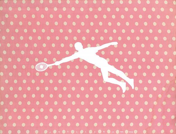 Július Koller – Tenis (Anti-obraz). (Latextil)