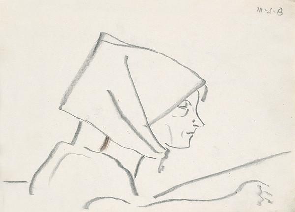 Miloš Alexander Bazovský – Portrét ženy v šatke