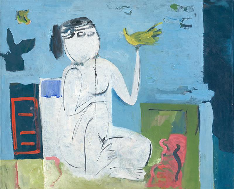 Viera Kraicová – Biely akt, 1970, Galéria Miloša Alexandra Bazovského