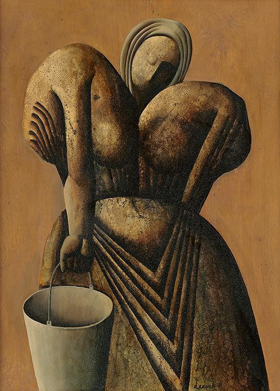 Rudolf Krivoš - Žena s vedrom