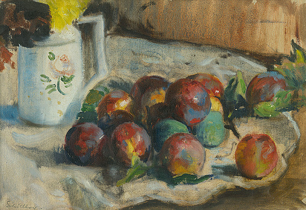 Irena Slavinská – Zátišie s ovocím