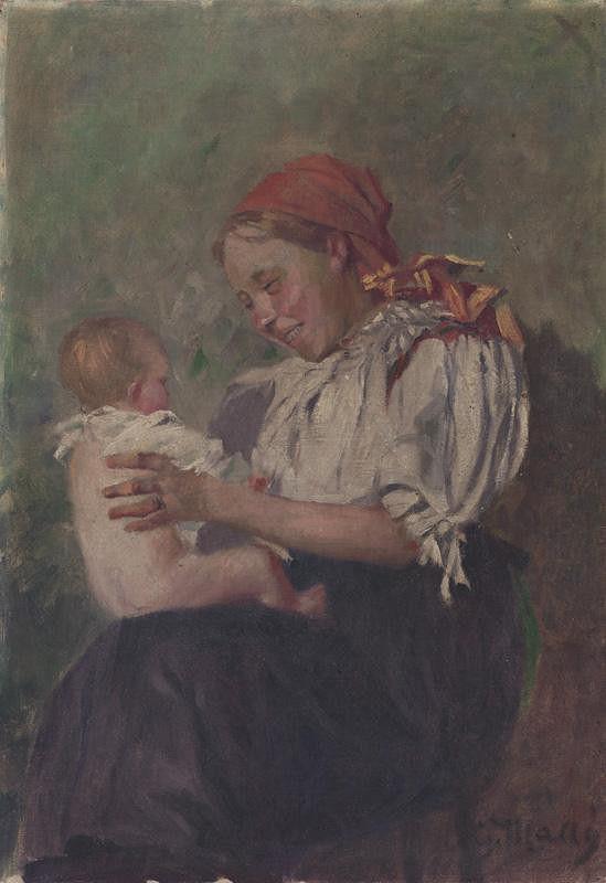 Gustáv Mallý - Matka s dieťaťom