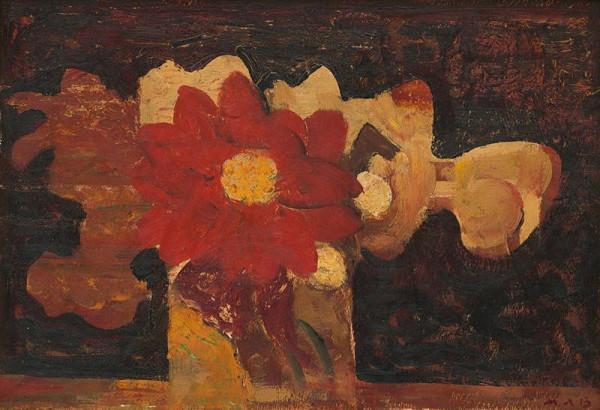 Miloš Alexander Bazovský - Červená chryzantéma