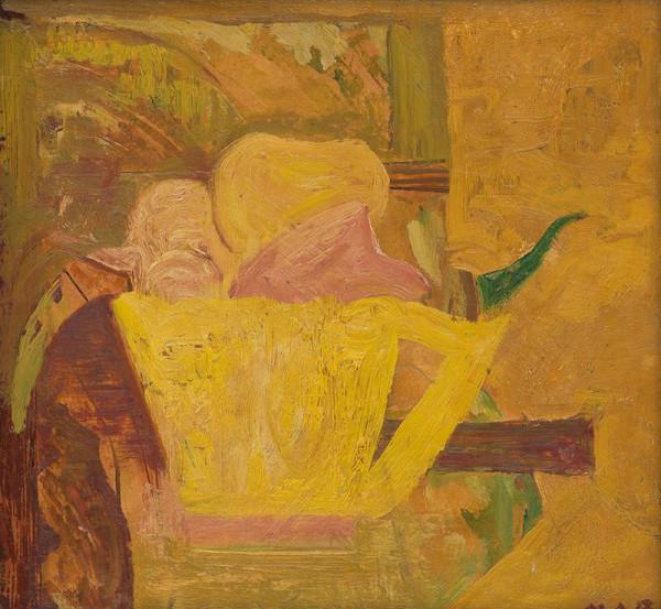 Miloš Alexander Bazovský - Ovocie v žltej nádobe