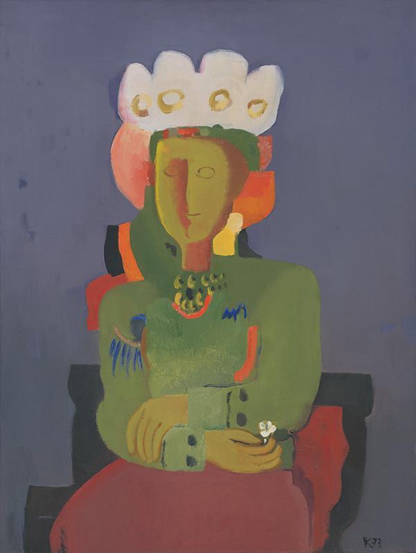 Viera Kraicová – Nevesta, 1973, Galéria Miloša Alexandra Bazovského