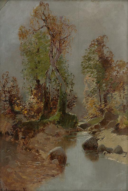 Zolo Palugyay - Krajinka s listnatými stromami