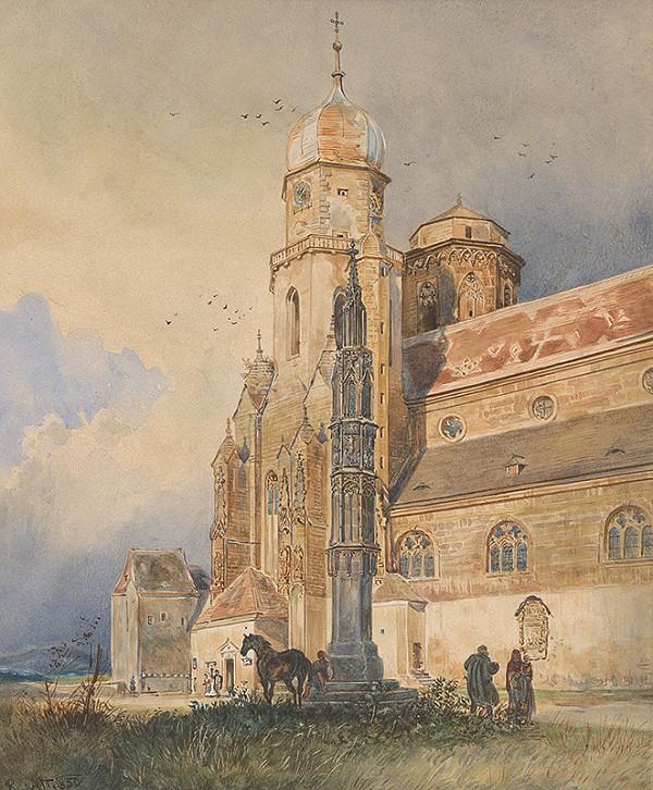 Rudolf Alt – Chrám v Klosterneuburgu