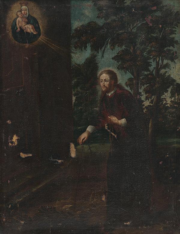 Stredoeurópsky maliar z polovice 18. storočia - Svätý Ján Nepomucký ako pútnik k staroboleslavskému Palladiu
