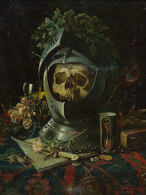 Eduard Majsch – Zátišie s lebkou