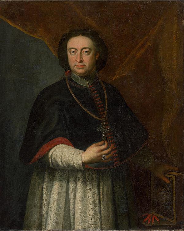 Stredoeurópsky maliar z 2. polovice 18. storočia - Portrét kardinála Kristiána Augusta Saského