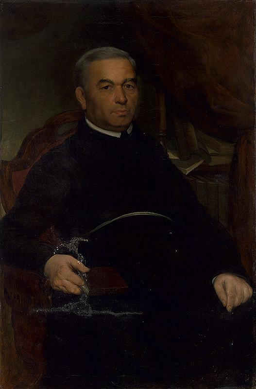Eduard Hriňák - Portrét františkánskeho provinciála Gaudentia Dostála