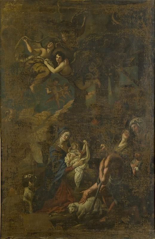 Stredoeurópsky maliar z konca 18. storočia - Klaňanie pastierov