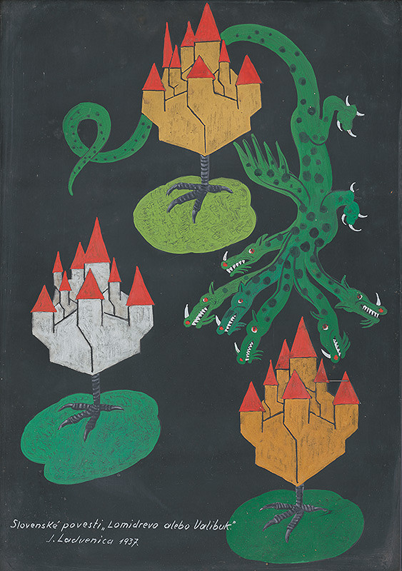 Ján Ladvenica - Ilustrácia k rozprávke Lomidrevo