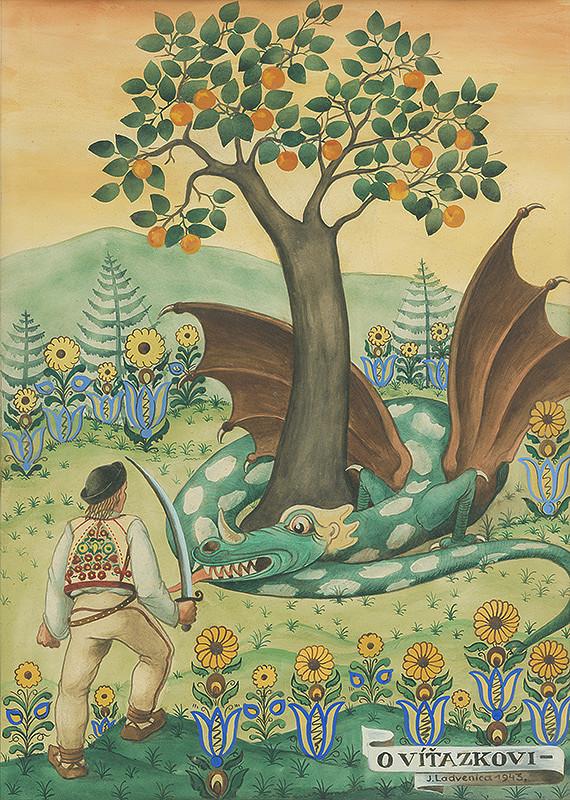 Ján Ladvenica - Ilustrácia k rozprávke O víťazkovi