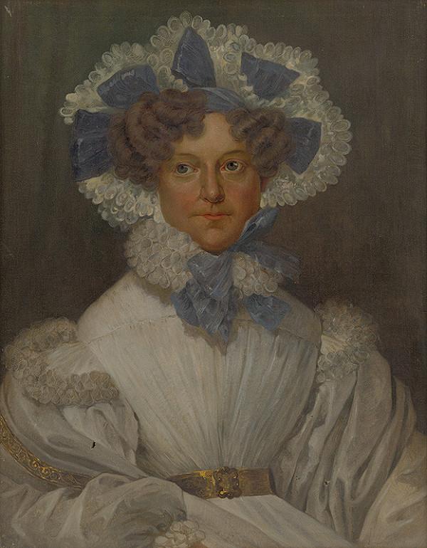 Maďarský maliar zo začiatku 20. storočia - Portrét grófky Márie Anny Gyulai, rod. Freiin von Edelsheim