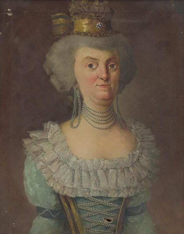 Maďarský maliar zo začiatku 20. storočia - Portrét grófky - manželky Samuela Gyulaiho