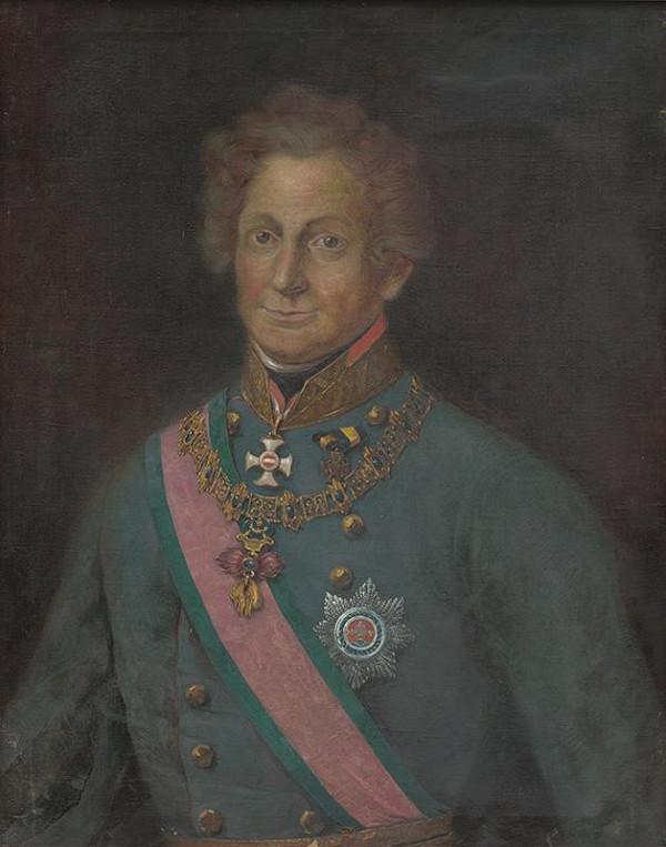Maďarský maliar zo začiatku 20. storočia - Portrét grófa Ignáca Gyulaiho von Marosneméth und Nadaszka