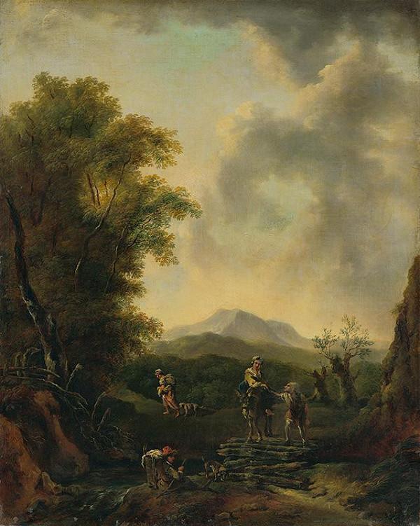 Taliansky maliar z 2. polovice 19. storočia - Krajina s figurálnou stafážou