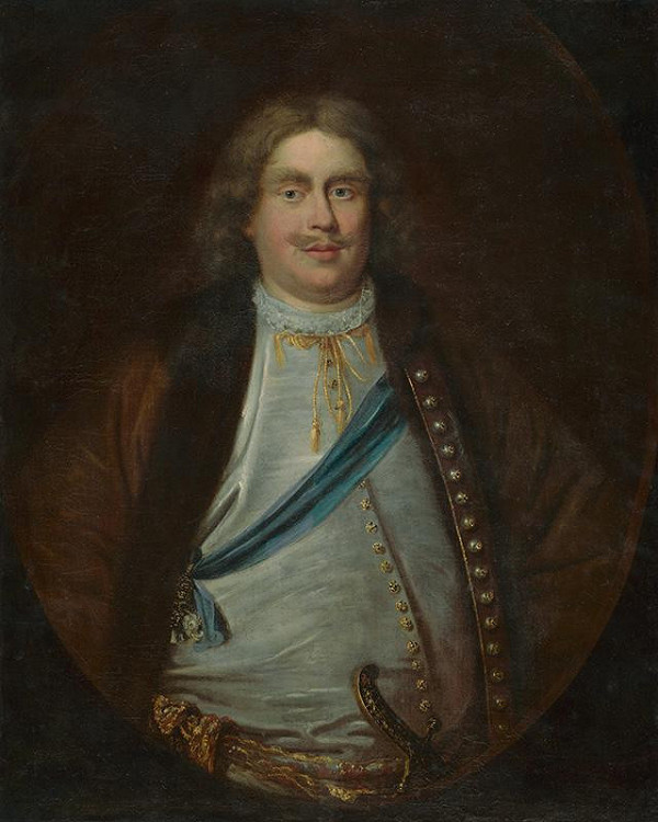 Nemecký maliar z 2. polovice 18. storočia, Adam de Manyöki - Portrét neznámeho šľachtica