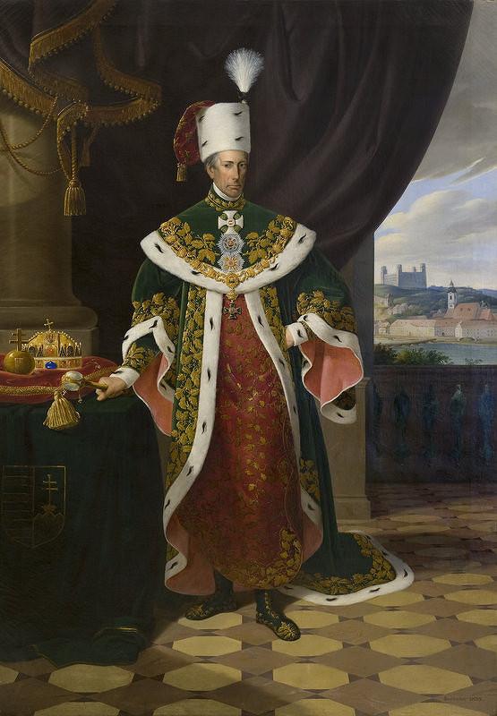 Carl Steinacker – Cisár František I. ako veľmajster Rádu sv. Štefana