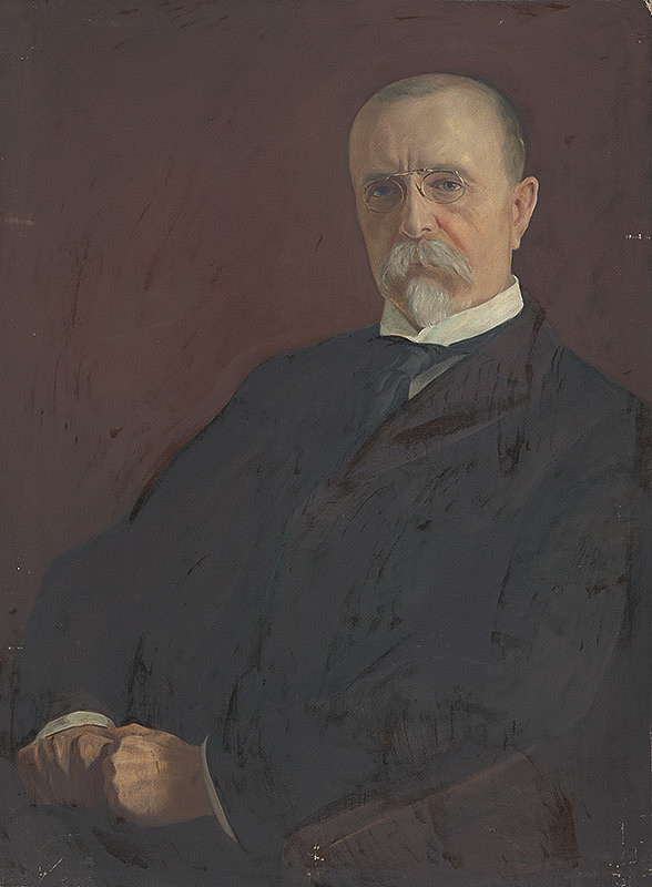 Slovenský maliar z 1. polovice 20. storočia – Portrét T.G.Masaryka