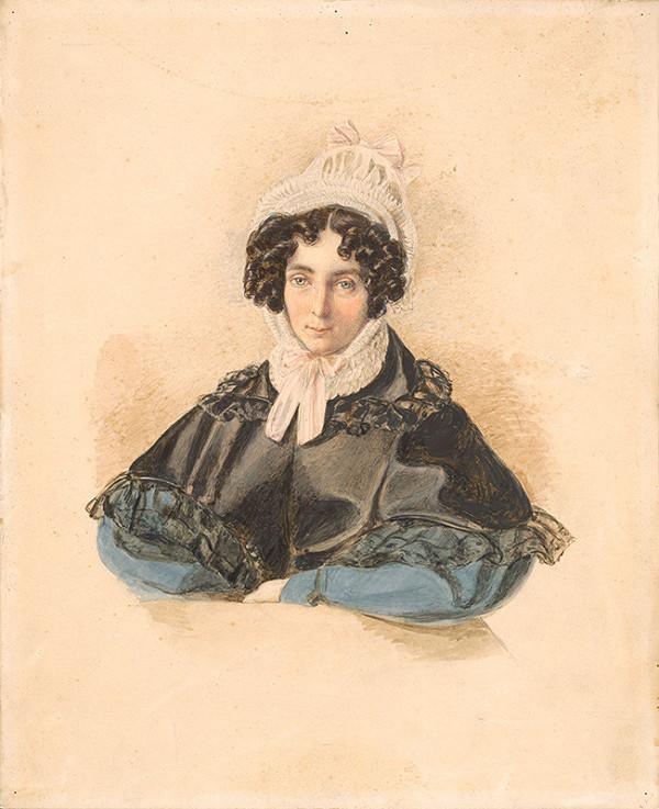 Eleonore Auegg-Dilg - Portrét dámy v čepci