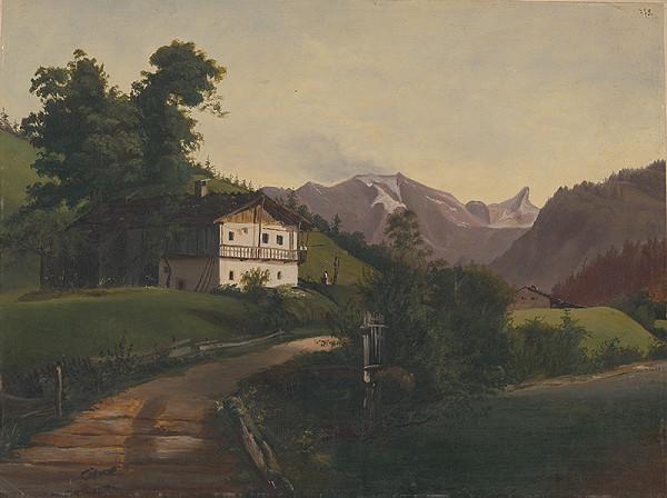 Flóris Ferenc Romer - Alpská krajinka II.