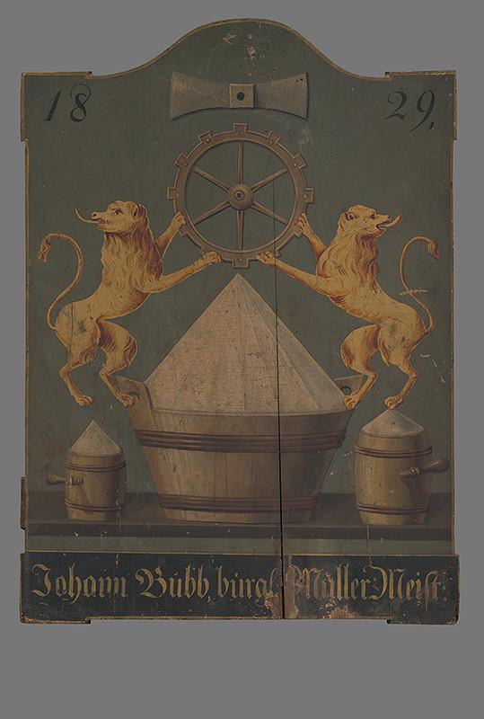 Stredoeurópsky maliar z 1. tretiny 19. storočia - Vývesný štít mlynára
