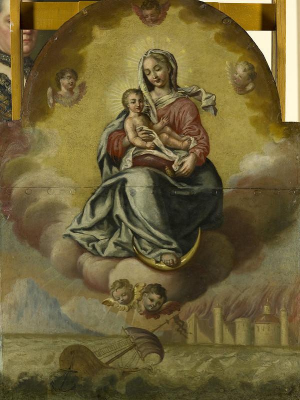 Slovenský maliar zo začiatku 19. storočia, Stredoeurópsky maliar z prelomu 18. - 19. storočia – Votívny obraz s Pannou Máriou s dieťaťom