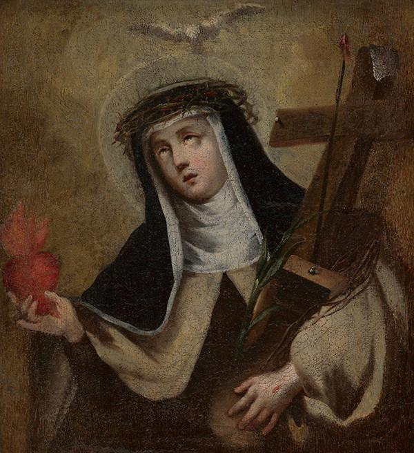 Stredoeurópsky maliar z prelomu 18. - 19. storočia - Svätá Mária Magdaléna de Pazzi
