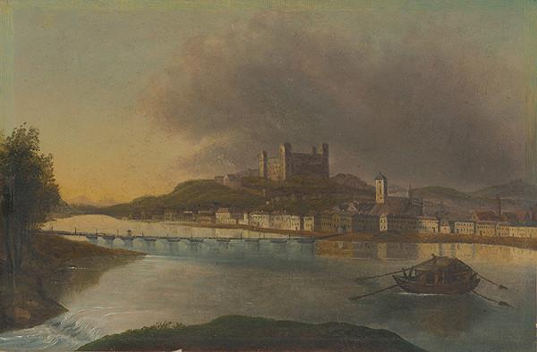 Stredoeurópsky maliar z 1. polovice 19. storočia - Pohľad na Bratislavu z Petržalky