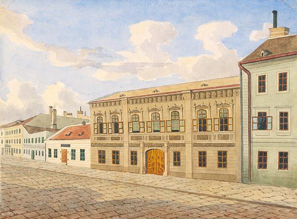 Slovenský maliar okolo polovice 19. storočia - Domy na Panenskej ulici ?