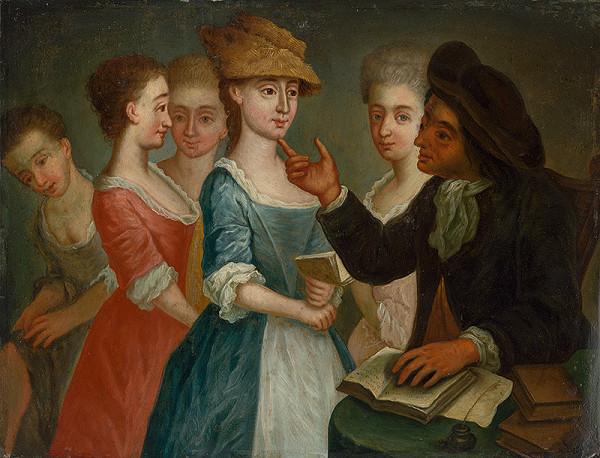 Stredoeurópsky maliar z 2. polovice 18. storočia - Učiteľ so žiačkami