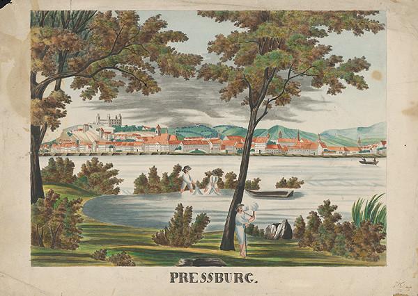 Stredoeurópsky maliar z konca 1. polovice 19. storočia – Bratislava z Petržalky