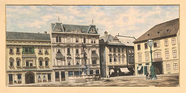 Slovenský maliar z prelomu 19. - 20. storočia - Hlavné námestie v Bratislave