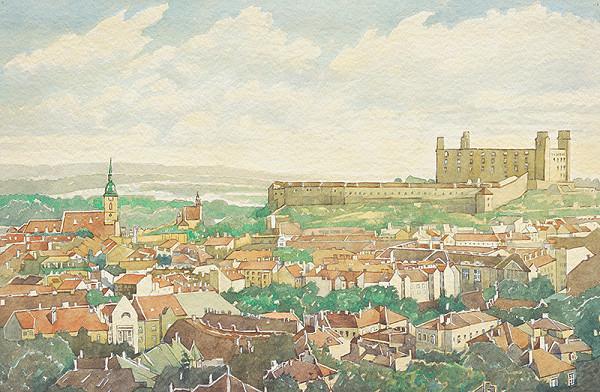 Slovenský maliar z 1. polovice 20. storočia – Bratislava zo severu