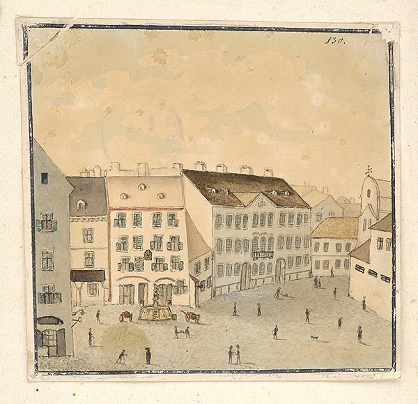 Slovenský maliar z konca 19. storočia – Františkánske námestie v Bratislave