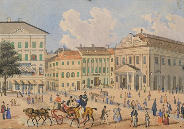 Stredoeurópsky maliar z 1. polovice 19. storočia, Antal József Strohmayer - Pohľad na bývalé Divadelné námestie v Bratislave