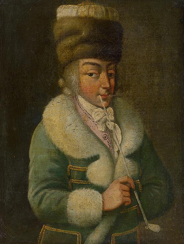 Stredoeurópsky maliar z konca 18. storočia - Fajčiaci muž