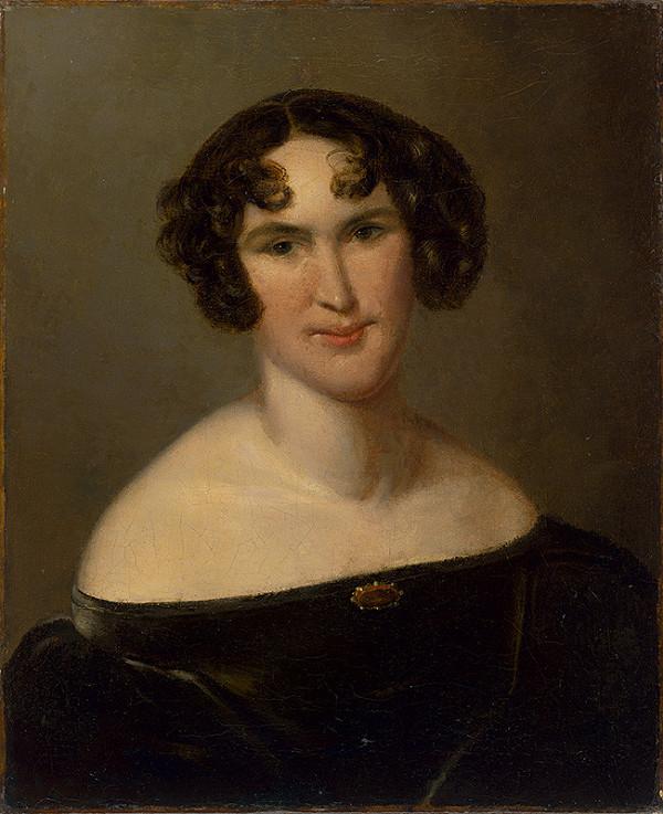 Stredoeurópsky maliar z 2. polovice 19. storočia - Portrét dámy v zamatových šatách