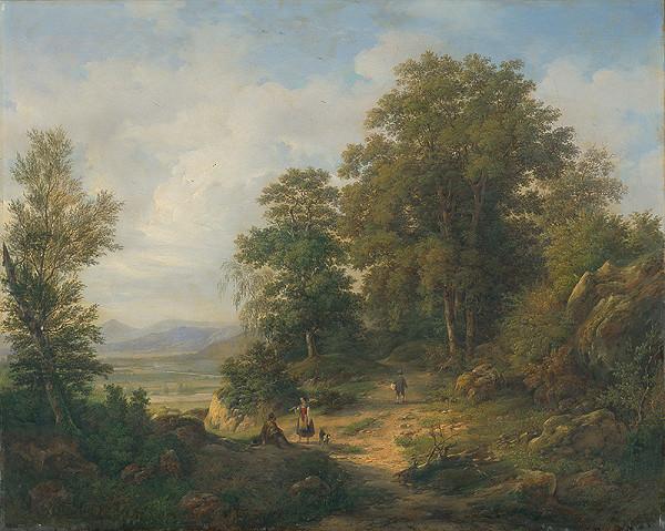 Stredoeurópsky maliar z 2. polovice 19. storočia - Lesná krajina